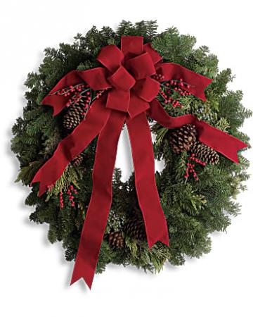 Classic Holiday Wreath Christmas arrangement