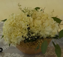 Classic Hydrangea wedding centerpiece