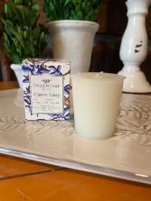 Classic Linen Candle Cube Votive