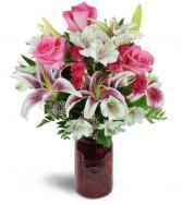 Classic Love Bouquet Vased Arrangement