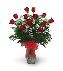 Classic One Dozen Rose Vase