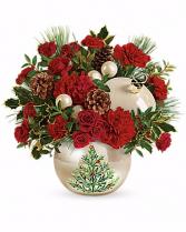Classic Pearl Christmas Keepsake Arrangement