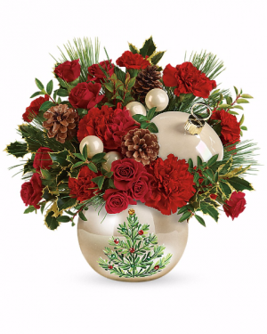Classic Pearl Ornament Arrangement in Winston Salem, NC | RAE'S NORTH POINT FLORIST INC.