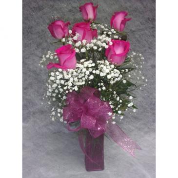 Classic Pink Half Dozen Roses Valentines