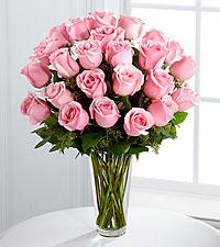 Classic Pink Roses Rose Arrangement