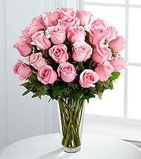 12, 18 or 24 Classic Pink Roses Rose Arrangement