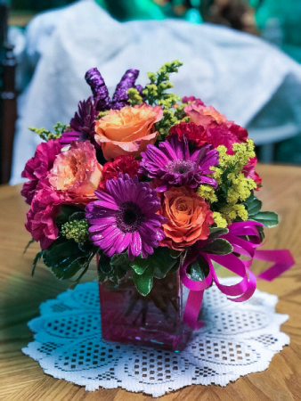 Classic Purple Bliss Floral Arrangement