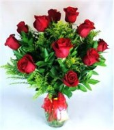 Dozen Red Roses Classic Arrangement