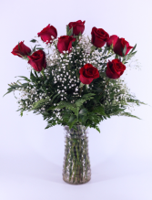 Classic Red Long-Stem Dozen Roses