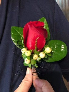 Classic Red Roses Boutonnieres