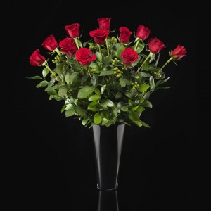 Classic Red Roses in a vase     in Oakville, ON | ANN'S FLOWER BOUTIQUE-Wedding & Event Florist