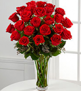 12, 18 or 24 Classic Red Roses Rose Arrangement
