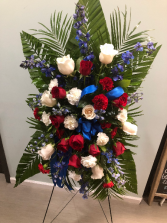 Classic Red White & Blue Standing Spray