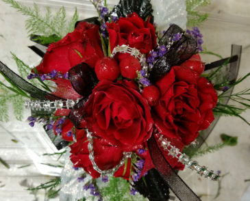 Classic Red Wrist Corsage