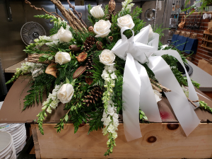 Classic Remembrance Casket Spray in Port Huron, MI | CHRISTOPHER'S FLOWERS