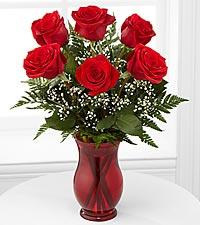 Classic Romance Vase of Roses vase