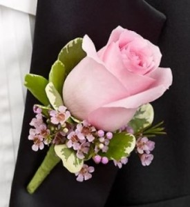 Classic Rose Boutonniere Many colors available in Saint Louis, MO | Irene's Floral Design