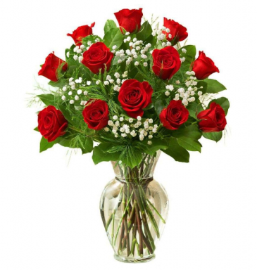 Classic Roses in a Vase Many colors to choose from