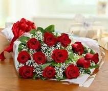 Dozen Classic Roses Wrapped