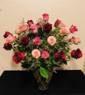 Three Dozen Mixed Roses Arrangement