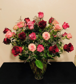 Three Dozen Mixed Roses Arrangement in Boise, ID | HEAVENESSENCE FLORAL & GIFTS