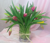 Classic tulip arrangement