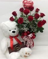 Classic Valentine Premium Rose Arrangement