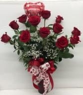 Classic Valentine Rose Arrangement