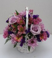 M10 Classic white Basket Arrangement
