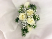 Classic White Rose Wristlet/Corsage