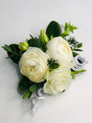 Classic White Corsage Corsages in North Bend, OR   PETAL TO THE METAL FLOWERS