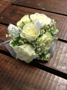 Classic White Rose Wrist Corsage Corsage in Fairfield, CT | Blossoms at Dailey's Flower Shop