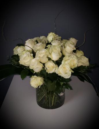 Classic White Roses