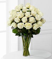 12, 18 or 24 Classic White Roses Rose Arrangement