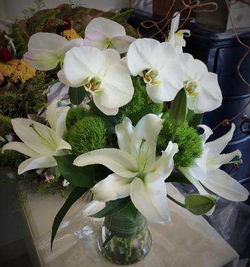 Classic White Vase Arrangement