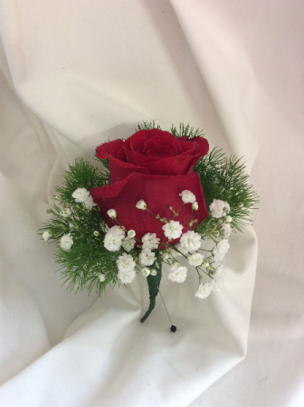 Classic Red  Boutonnier