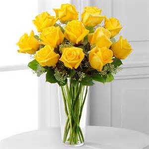 Classic Yellow Long Stem Roses 1 dozen long stem yellow roses in Monument, CO | ENCHANTED FLORIST