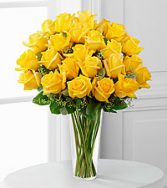 12, 18 or 24 Classic Yellow Roses Rose Arrangement