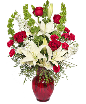 Classical Christmas Floral Arrangement in Severna Park, MD | SEVERNA PARK FLORIST INC  SEVERNA FLOWERS & GIFTS