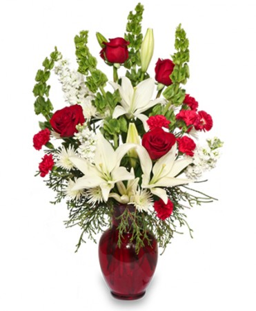 Christmas Flower Arrangements.Classical Christmas