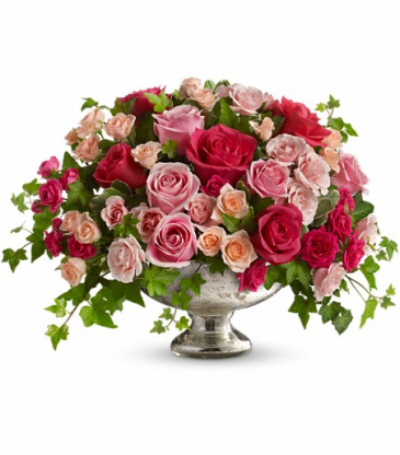 Classical Compote of Garden Roses