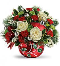 Classic Holly Ornament T19X405A Keepsake Arrangement