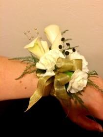 Classy Carnation Wrist Corsage