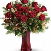 Classy Red Rose Christmas