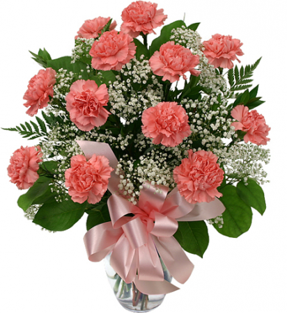 Classy Pink Carnations Vase Arrangement