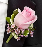 Classy Pink Rose Boutonniere