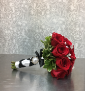 Classy Red Rose Bridal Bouquet Bridal Bouquet