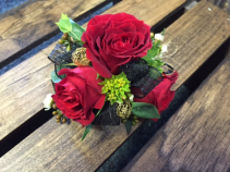 Classy Red Roses Corsage