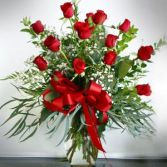 Classy Classic One Dozen Red Roses