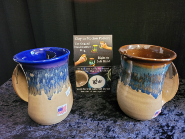 """""""Clay in Motion"""" Right or Left handed mug."""